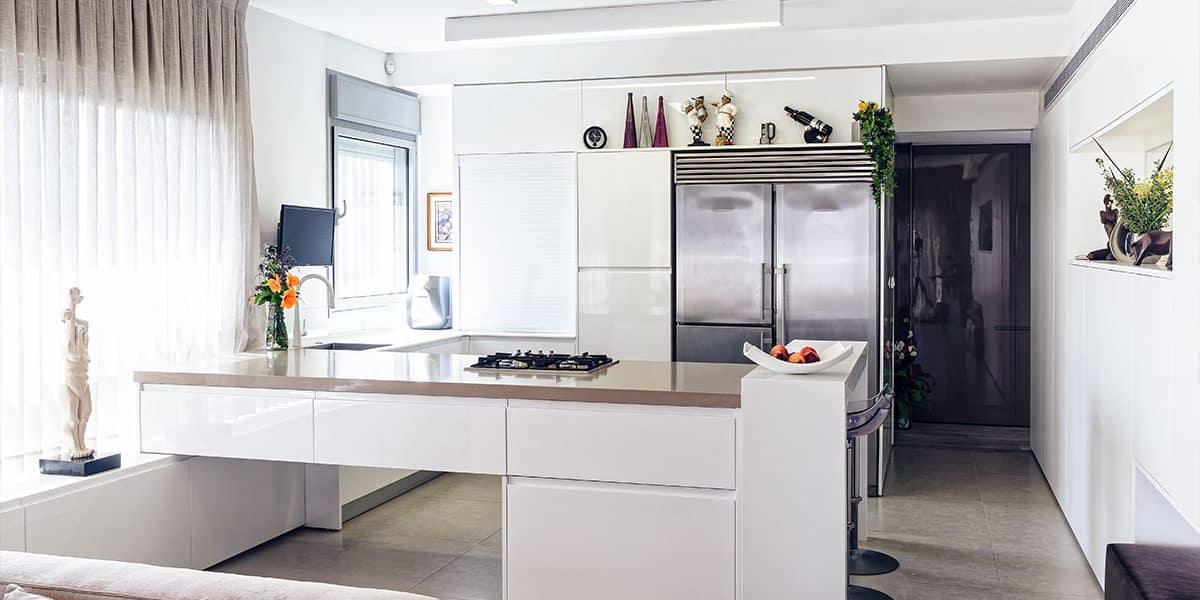 שילוב גווני קוריאן במטבח בבית פרטי