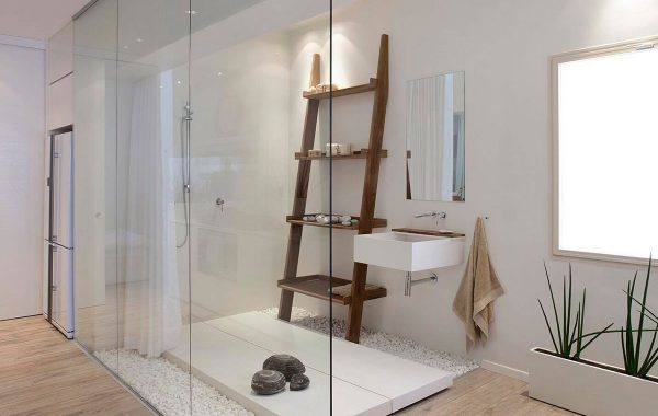 חדר רחצה מקוריאן חדר רחצה מיוחד, משלב אגנית וכיור קוריאן תלוי