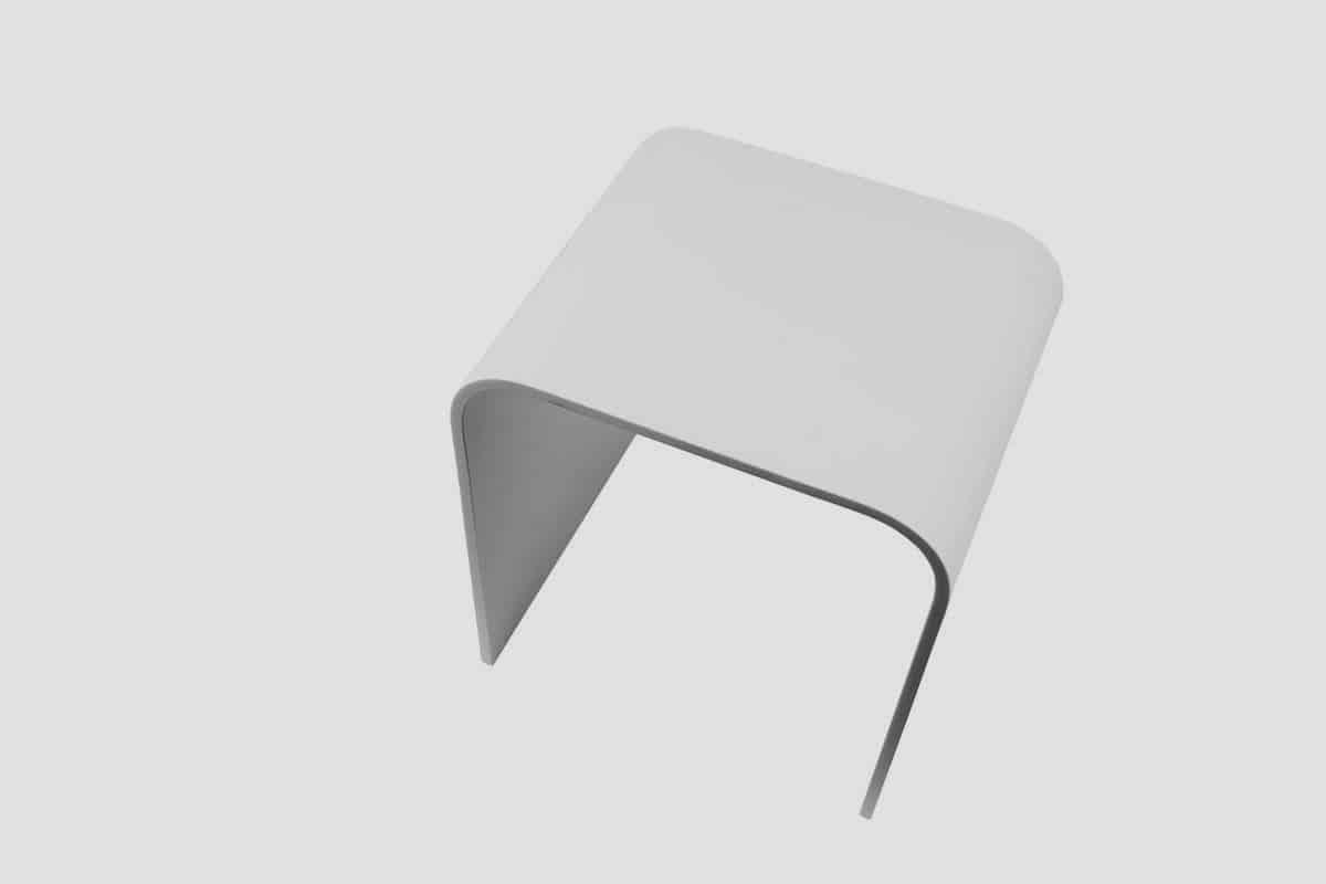 ספסל קוריאן בצבע לבן