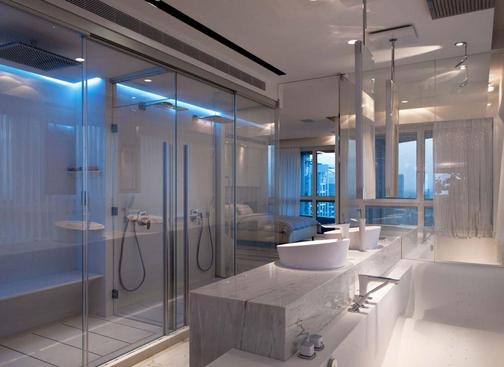 אמבטיה וסאונת יוקרה בבית פרטי העשוי מקוריאן
